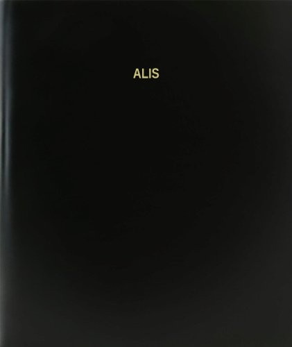 BookFactory® Alis Log Book / Journal / Logbook - 120 Page, 8.5'x11', Black Hardbound (XLog-120-7CS-A-L-Black(Alis Log Book))