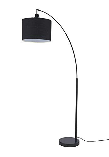 Archiology Beverly Black Floor Lamp - Standing Pole Light for Bedrooms Living Rooms, Minimalist Design with Lampshade and Steel Base, 71