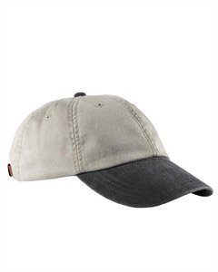 Adams Cap 6-Panel Low-Profile Washed Pigment-Dyed Baseball Cap AD969 beige One Size