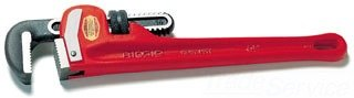 Ridgid Straight Pipe Wrenches 36'' Heavy Duty Steel Pipe Wrench