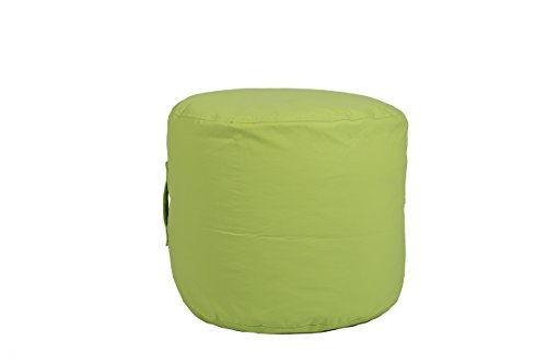 Hip Chik Chairs VCL03999-4047 Large Tech-Leather Round Ottoman, Adult Size, Lime green by Hip Chik Chairs