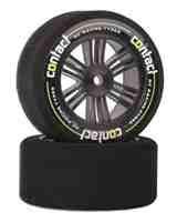 Contact RC 30mm 1/10 Nitro Sedan Foam Rear Tires (2) (Carbon Black) (42 Shore)