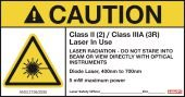 HIlti 3528370 Laser Warning Sign Class 2 (5-pack) measuring systems