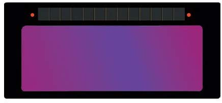"ArcOne S240-11 Horizontal Single Auto-Darkening Filter for Welding, 2 x 4"", Shade 11"
