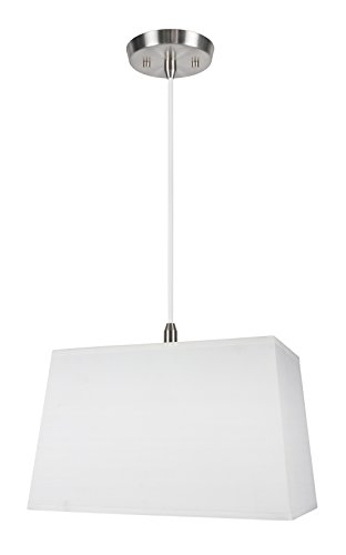 Rectangular Pendant Light With Shade in US - 5
