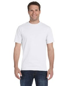 Hanes Men's Short-Sleeve Beefy T-Shirt,White,6X-Large