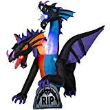 Home Accents Holiday 7.8 ft. Pre-Lit LED Inflatable Fire and Ice 2-Headed Dragon with Flaming Mouth (BBG/RRPm) Airblown for $<!--$148.98-->