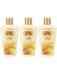 Victoria's Secret Amber Romance Hydrating Body Lotion 8.4 oz / 250 ml Set of 3 Amber Romance Lotion