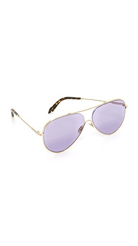 Victoria Beckham Women's Loop Aviator Sunglasses, Gold/Rose Blue, One - Aviator Beckham Sunglasses Victoria