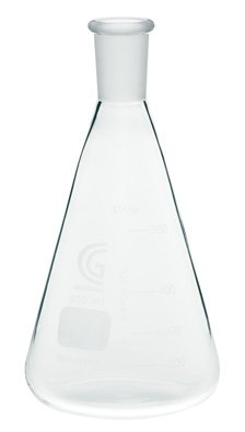 Chemglass CG-1542-03 Series CG-1542 Erlenmeyer Flask with 24/40 Outer Joint Size, 125 mL