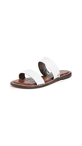 Sam Edelman Women's Gala Slides, White, 4 M US