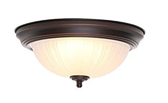 Frosted Melon Glass Light Fixture (11