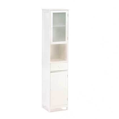 Lakeside Tall Storage Shelving Display Organizing Cabinet by Furniture Creations