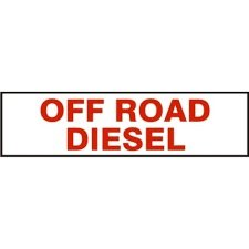 OFF ROAD DIESEL Decal Safety Sign Vinyl Adhesive Press On 2.25