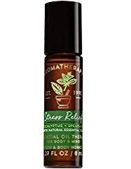 Bath and Body Works Aromatherapy Stress Relief - Eucalyptus & Spearmint Essential Oil Rollerball 0.27 Fl. Oz.