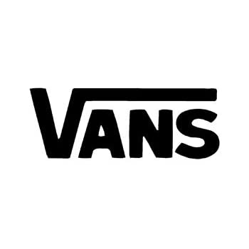Vans logo vinyl sticker decal decal black 6 inch