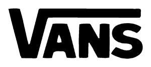 8cf3f050275e23 Amazon.com  Vans Logo Vinyl Sticker Decal Decal-Black-6 Inch  Automotive