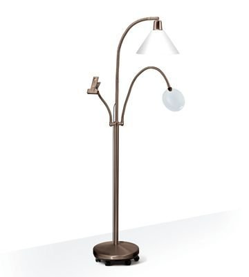 Deluxe floorstanding lamp in antique with 11watt energy saving deluxe floorstanding lamp in antique with 11watt energy saving daylight bulb aloadofball Gallery