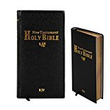 Holy New Standard Bible King James Version Leatherette Covers Soft-Cover Set of 2 plus Pocket Travel size Black