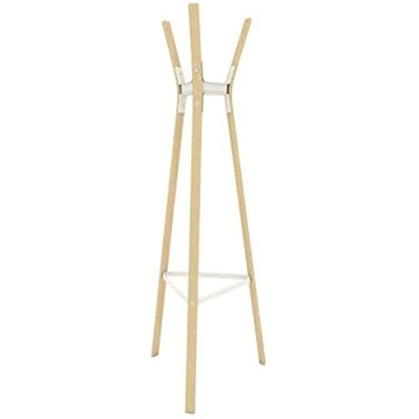 Magis Design Steelwood Coat Stand Natural Beech White