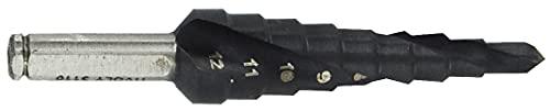 TIVOLY 11438720412 HSS TiAlN Kegelbohrer Stufen, Spiralnippel, schwarz