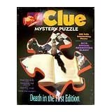 CLUE MYSTERY PUZZLE: DEATH IN THE FIRST EDITION by MILTON BRADLEY