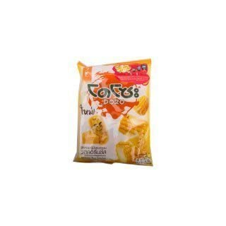 Snack Made in Thailand Dozo Japanese Rice Cracker Corn Cheese Flavour Size 56 G. (3 Bag )