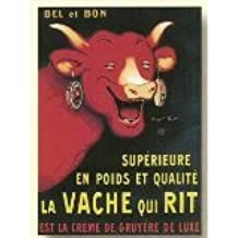 Amazon Com French Vintage Metal Sign 20x15cm Retro Ad Vache Qui Rit