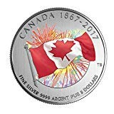2017 Proudly Canadian Pure Silver Glow-in-The-Dark Coin*