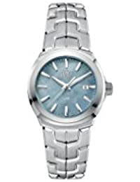 Link Blue Mother of Pearl Dial Ladies Stainless Steel Watch WBC1311.BA0600