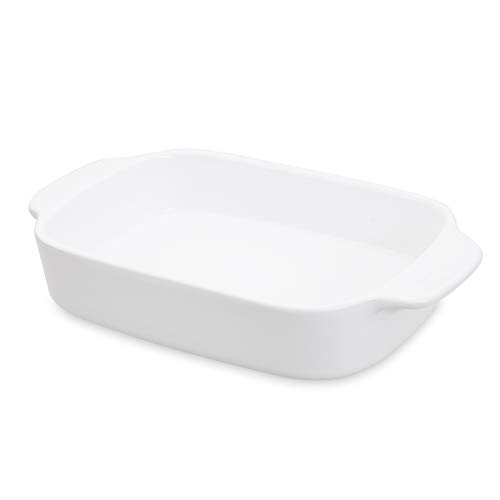 Thicker Rectangular Baking Dish Ceramic Casserole Dish Lasagna Baking Pans with Handle Bakeware Two Person 10 inch 10