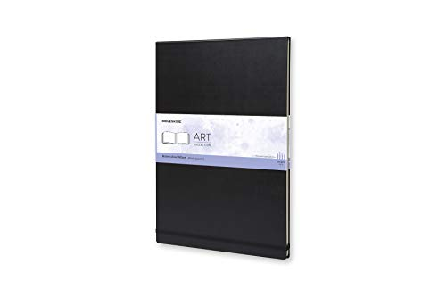 Moleskine Art Plus Hard Cover Watercolor Album, Plain, A3 (11.75 x 16.5) Black - Sketch Pad for Drawing, Watercolor Painting, Sketchbook for Teens, Artists, Students