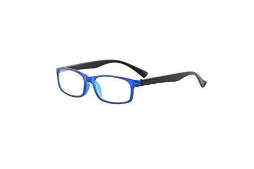 Reading Glasses Blue Light Blocking, Anti reflective, Crystal Clear Vision, Spring Hinge Arms, Tahoe Sunset (Blue Black, 2.50)