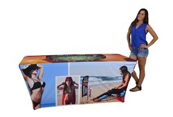 Custom Printed Table Cover - Trade Show Tablecover - Full Color Fitted Style (6ft)