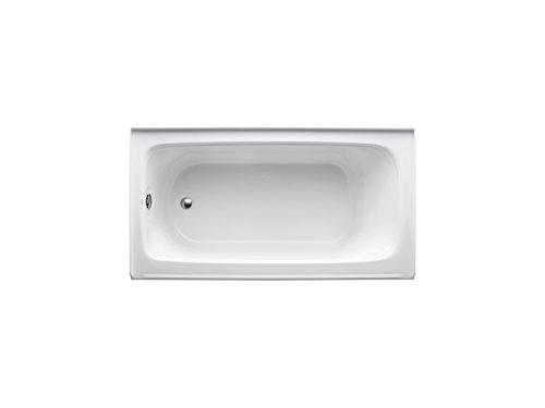 KOHLER K-1150-LA-0 Bancroft 5-Foot Bath with Left-Hand Drain, White Photo #2