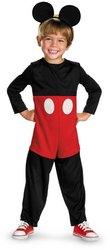 Deluxe Kids Mickey Mouse Costumes (Mickey Mouse Deluxe Costume - X-Small)