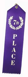 7th Place (Purple) Award Ribbons w/Card & String