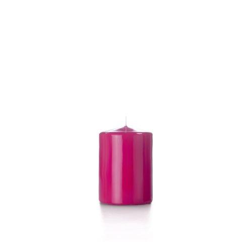 Yummi 3x4 High Gloss Pillar Candles, Hot Pink - 3 per pack by Yummi