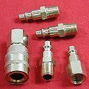 5 piece Air Compressor SOLID BRASS QUICK CONNECT Coupler SET UNIVERSAL FIT by Central Pneumatic