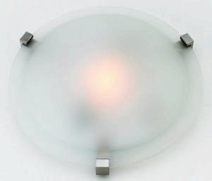 Access Lighting 50061-SAT/FST Cirrus Flush Mount, Satin Finish with Frosted Glass