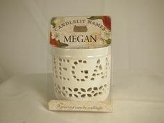 "Candlelit Names 001850157"" Megan Votive Candles from Candlelit Names"