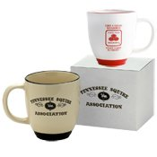 Tone Mug Two Bistro (Two Tone 12 oz. Bistro Mug 5000 QUANTITY -$2.43 EACH /PROMOTIONAL PRODUCT / BULK / BRANDED with YOUR LOGO / CUSTOMIZED)