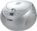 Coby CD Portable Boom Box with MP3 and AM/FM Radio (Silver)