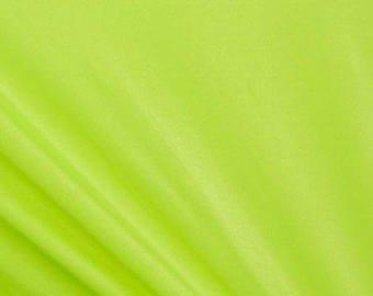 Tela de lycra lisa y elástica de nailon y licra de color amarillo neón – 1