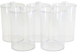 Clear Plastic Sundry Jars: Unlabeled, - 5 EA/CS