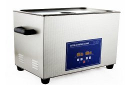 GOWE AC110V/220V 40 Digital Ultrasonic Cleaner 22L with Drainage Valves for Hardware Parts, PCB, Medical Washing