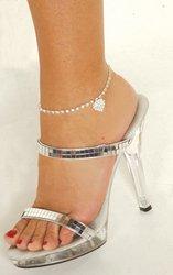 Elegant Moments J1315 Rhinestone Heart Anklet