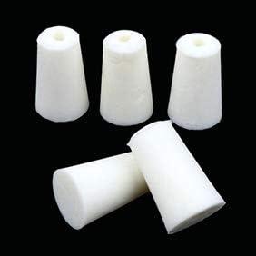 Bouchons Coniques De Fiole De Chimie De Laboratoire 12mm-17mm Verlike Joint en Caoutchouc De Silicone De 5Pcs