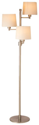 Lighting Enterprises Triple-Light Floor Lamp, Polished Brass - Enterprises Polished Nickel Floor Lamp