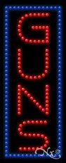Guns LED Sign (High Impact, Energy Efficient)